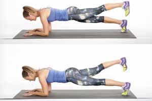 Ejercicios para eliminar la celulitis de las piernas y muslos: planchas